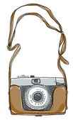 Camera vintgae art And strap — Stock Photo