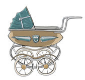 Baby stroller vintage  — Stock Photo