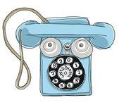 Mavi metal telefon speedphone teneke oyuncak — Stok fotoğraf