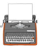 Vintage Bulgarian  Manual Typewriter with paper   — Stockfoto