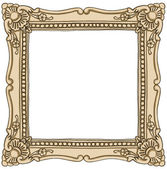 Frame border vintage painting — Photo