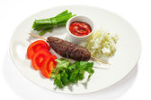 Kebab and vegetables — Foto Stock