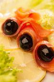 Fresh fish slices — Stock Photo