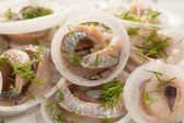 Herring rolls — Stock Photo