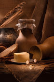 Vintage russian rustic still life — Stock Photo