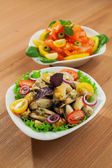 Fresh mussels salad — Stock Photo