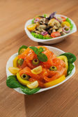 Fresh mussels salad — Stockfoto