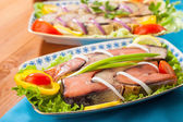 Seafood appetizer red fish — Stock Photo