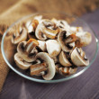 Mushrooms chopped — Stock Photo #38448429
