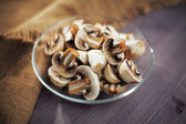 Mushrooms chopped — Stockfoto