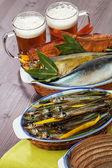 Aperitivo de cerveza de mariscos — Foto de Stock
