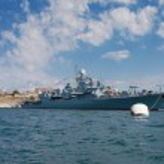 Russian military ships — Stock Photo