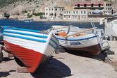 Boat in berth — Stock Photo