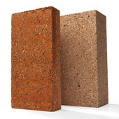 Special bricks, firebricks — Stock Photo