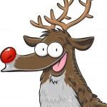 Rudolph, red nosed reindeer — Stock Vector #36076199
