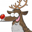 Stock Vector: Rudolph, red nosed reindeer