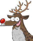 Rudolph, red nosed reindeer — Stock Vector