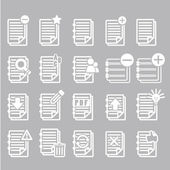 Documents note icons set — Stock Vector