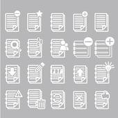 Documenten Opmerking icons set — Vector de stock