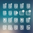 Documents note icons set — Stock Vector #47276591