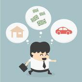 Businessman Walking dream — Stock Vector