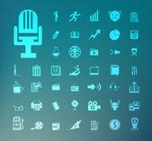 Set of icons Retina — Stock Vector