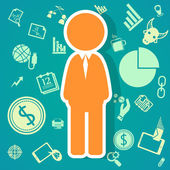Salary icons  theme — Stock Vector