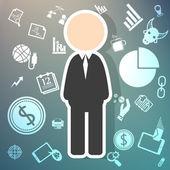 Salary icons  theme on Retina background — Stock Vector