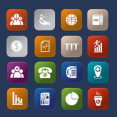 Office finance colorful icon set eps.10 — Stockvector