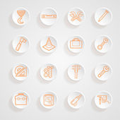 Tools functions menu icons set — Stock Vector