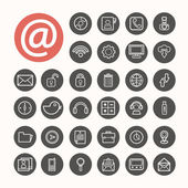 Mobile Interface Icons set .Illustration eps10 — Stock vektor