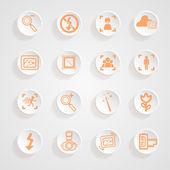 Cámara funciones menú conjunto de iconos — Vector de stock