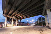 Concrete Girder Bridge underneath — Stock Photo
