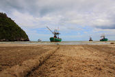 Sheltered mooring on Sam Phraya Beach — Stock Photo