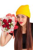 Frau hib kochfeld stil glücklich vanlentine-21 — Stockfoto