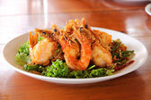 Fried Shrimp with tamarind sauce 3 — Stock Photo