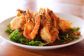 Fried Shrimp with tamarind sauce 2 — Stock Photo