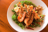 Fried Shrimp with tamarind sauce — Stock Photo