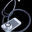 Foto Stock: Telephone and stethoscope