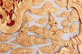 Art of wood carving fairy on door — Stock Photo