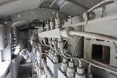 Engines diesel in locomotive — Stock Photo