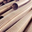 Metal hose corrugated. — Stock Photo