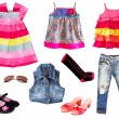 Kid clothing.Isolated. — 图库照片