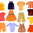 Collage children cloth — Stock Photo