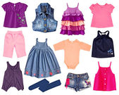 Collage kid clothes. — 图库照片