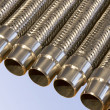 Stock Photo: Metal hoses.