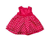 Red baby girl dress. — Stock Photo