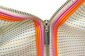 Zipper closeup with emty space. — Stockfoto