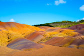 Colored earth in Mauritius — Stock Photo