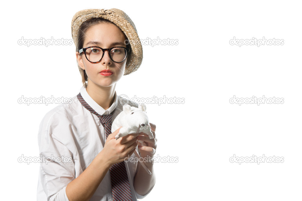Фото девушки в строгих очках